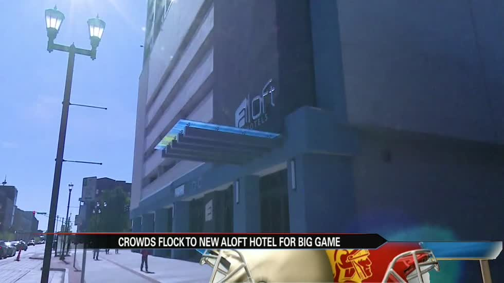 New, local hotel sees surge of guests during Game Day weekend