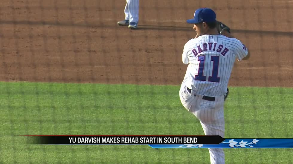 Chicago Cubs star pitcher Yu Darvish makes rehab start in South Bend