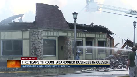 Fire destroys abandoned building in Culver