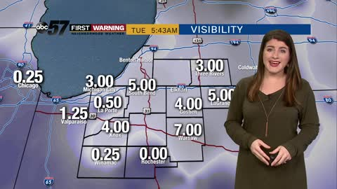 Morning fog then quiet and mild through Thursday
