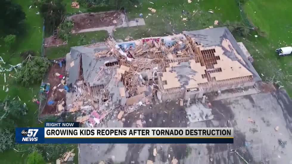 Daycare ripped apart by tornado is rebuilt bigger and better