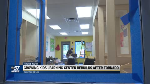 Daycare ripped apart by tornado is rebuilt bigger and better...