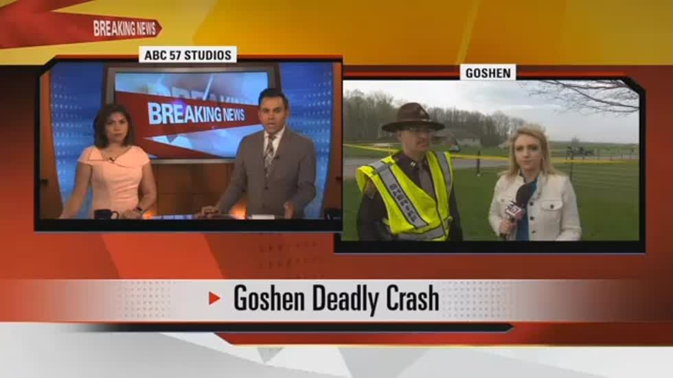 One person killed in crash on CR37 & CR38 in Goshen