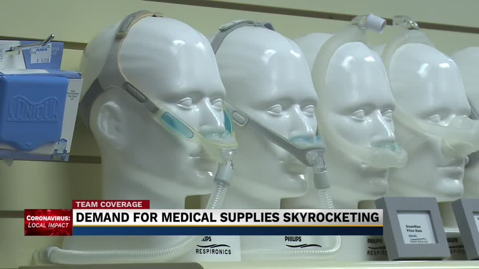 Companies adjust to rise in demand for medical supplies