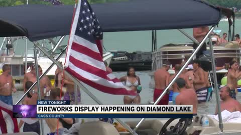 Diamond Lake holds firework show for Independence Day