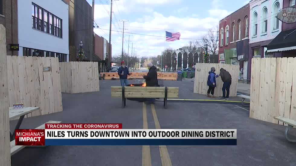 Downtown Niles transformed into outdoor dining district