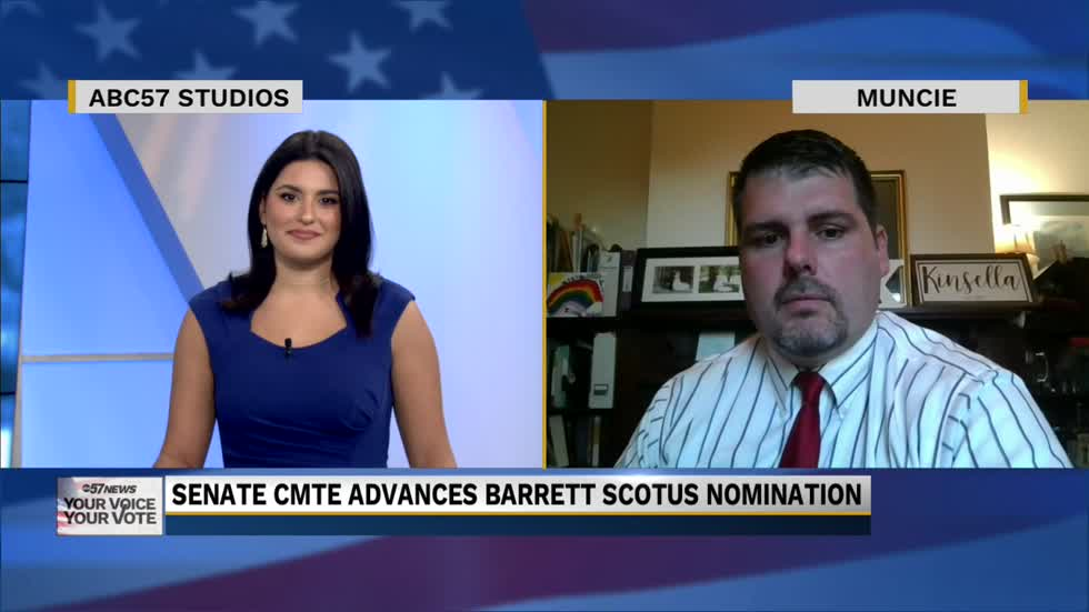 Dr. Chad Kinsella spoke with ABC57 on Barrett Scotus nomination