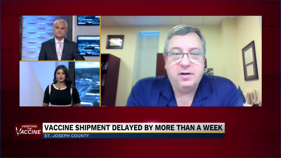 Dr. Mark Fox on delayed vaccine shipments and contingencies