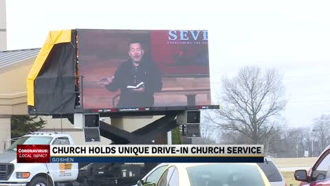 "Goshen church turns to Sunday ""drive-in"" service"