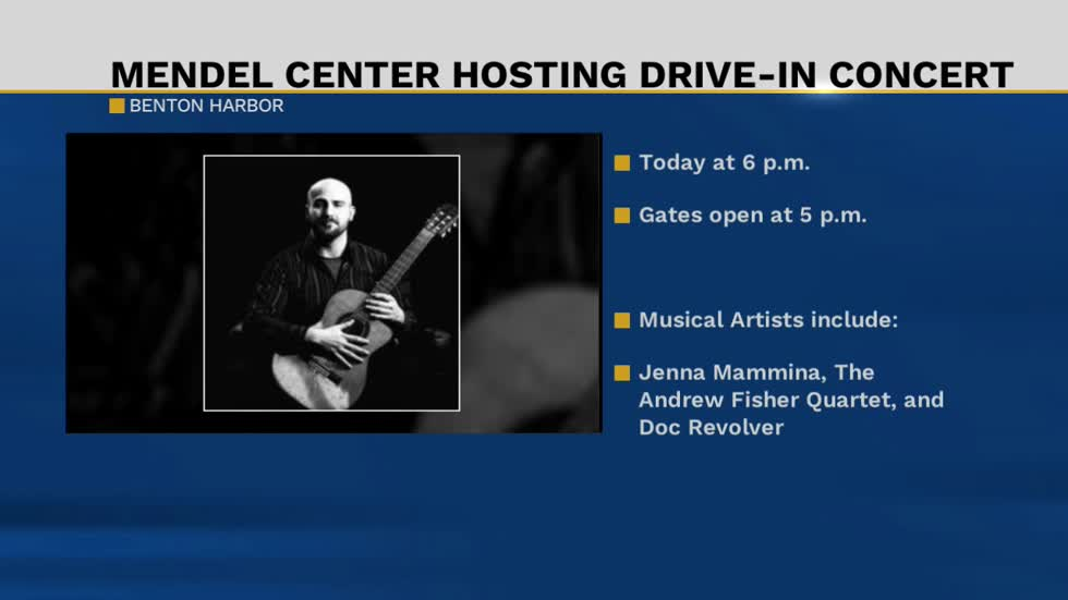 Drive-in concert at the Mendel Center