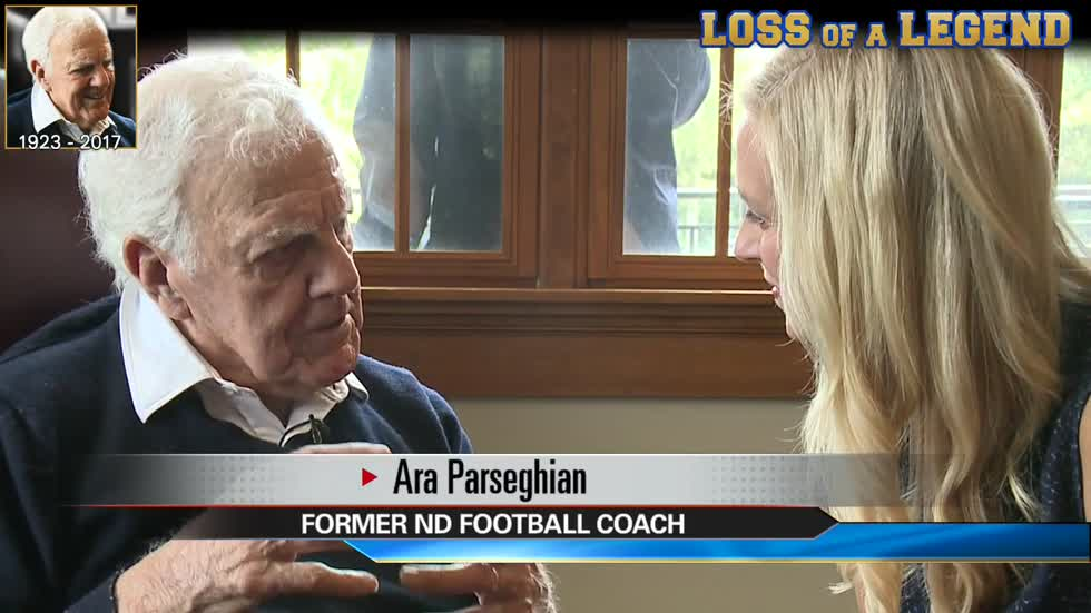During interview, Coach Parseghian discussed love of Notre Dame