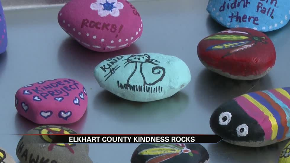 """Kindness Rocks"" spreading across Elkhart County"
