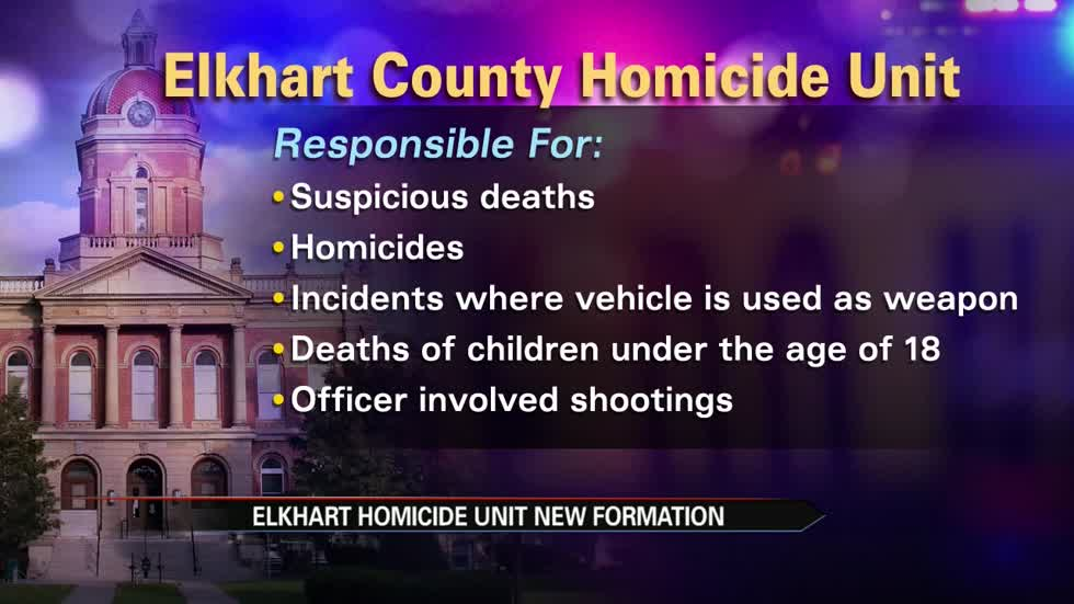 New homicide unit coming to Elkhart County