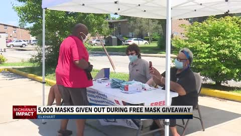 Elkhart coalition hands out free face coverings