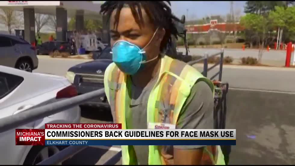 Elkhart County Commission encouraging residents to wear face masks