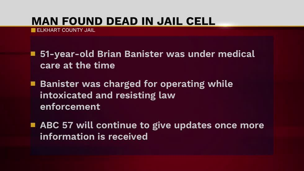 Homicide unit investigating inmate death at Elkhart County Jail