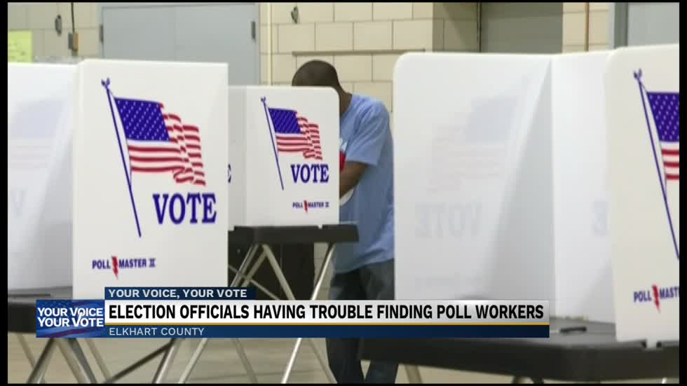 Elkhart County poll workers are backing out with no Election Day mask mandate