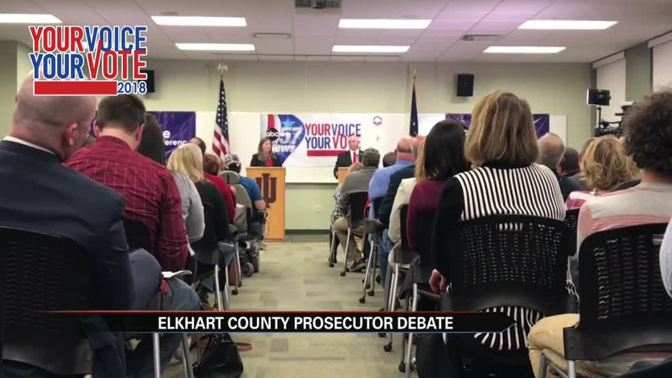 Elkhart County Prosecutor candidate debate attracts full crowd