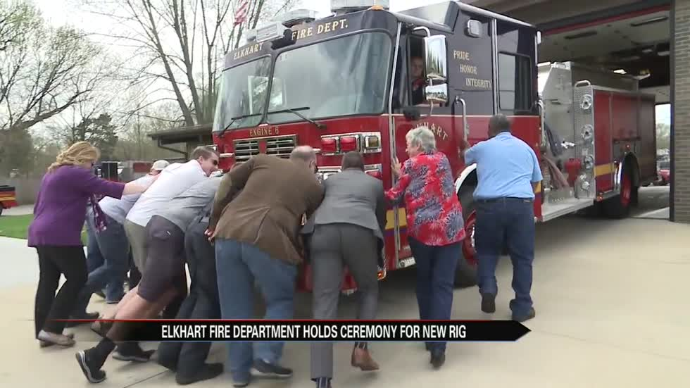 Elkhart Fire Department welcomes new rig to their station