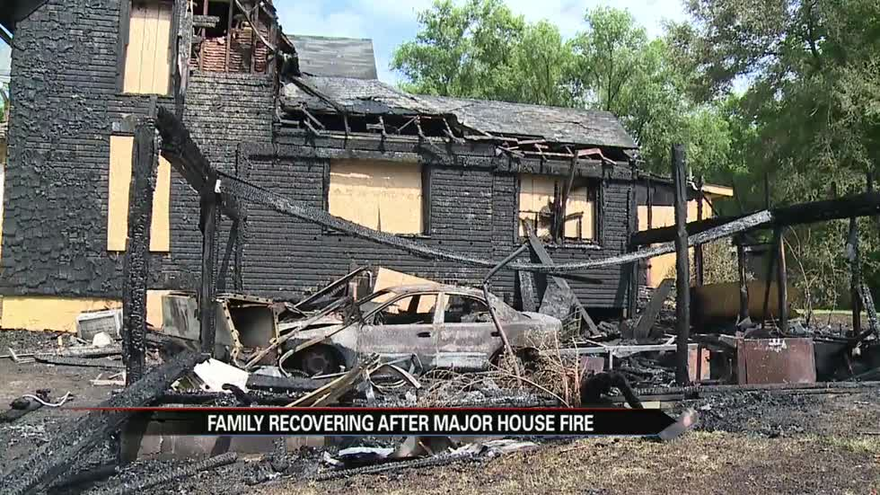 Family rebuilding life after house catches on fire