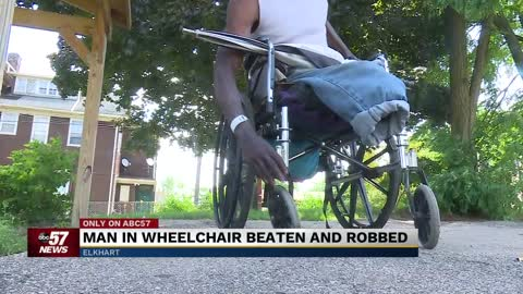 Elkhart man in wheelchair beaten, robbed speaks out
