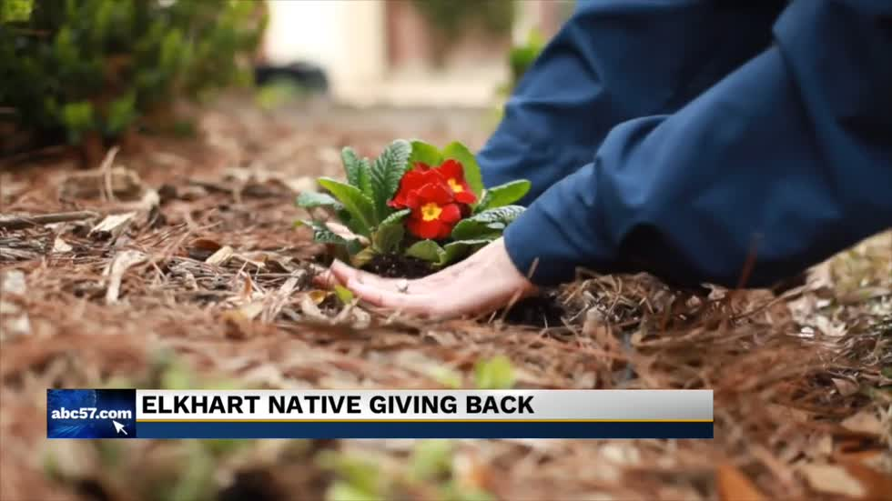 Elkhart native giving back to the community