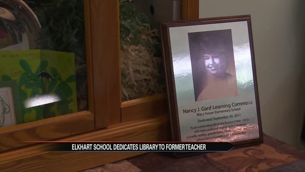 Elkhart school adds tech to library; dedicates to former teacher