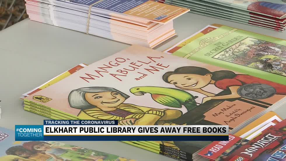 Elkhart students got a surprise of free books with their meals