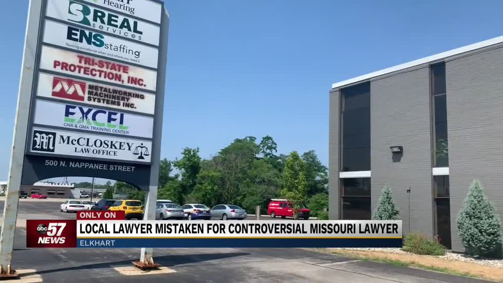 Elkhart's McCloskey Law Office facing harassment in case of mistaken identity