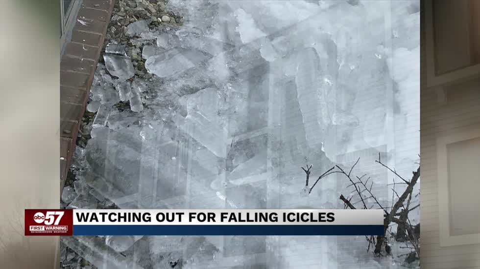 Watch for falling icicles this week