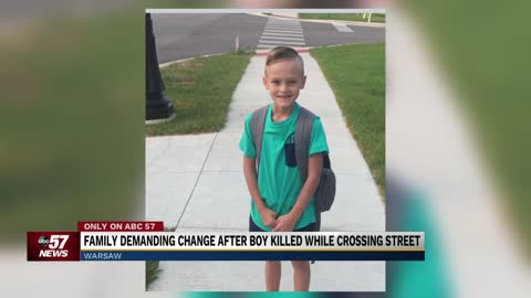 Family of Warsaw boy killed in crosswalk hoping to change state law