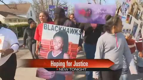 Family of Michigan City teen killed in car marches for justice