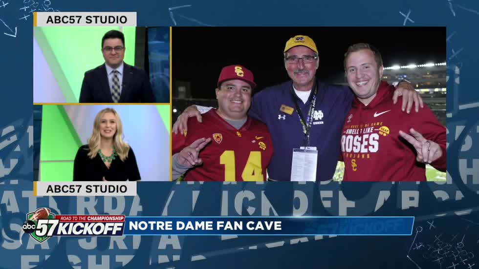 Fan Cave: Longtime ND Usher shows off his basement in Kalamazoo