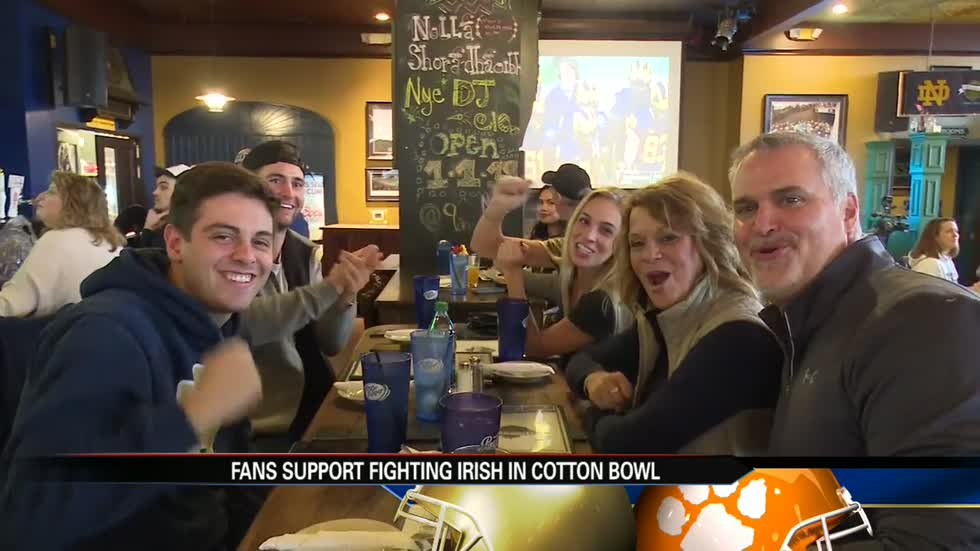 Fans support Fighting Irish in Cotton Bowl at home in South Bend