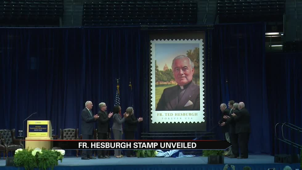 Father Ted Hesburgh stamp revealed