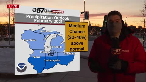 February shaping up to be much colder across Michiana