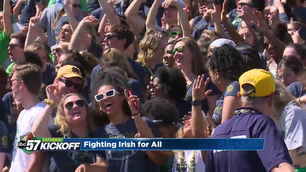 Fighting Irish Initiative helps lower-income students get to game day