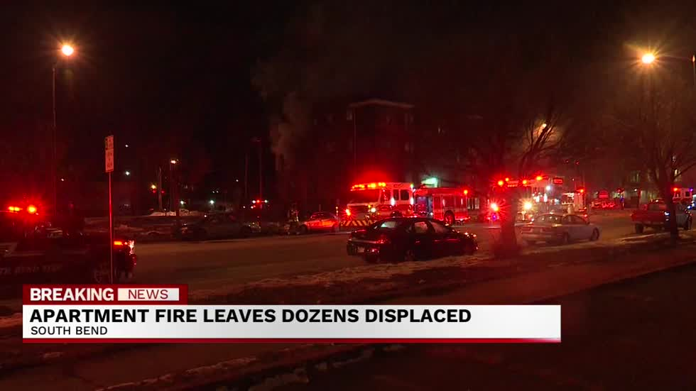 South Bend apartment fire leaves 28 people displaced
