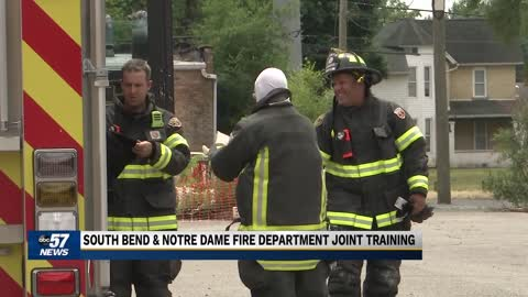 Fire departments team up in South Bend for joint fire training