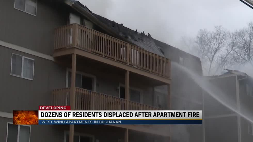 Residents of West Wind Apartments displaced due to fire