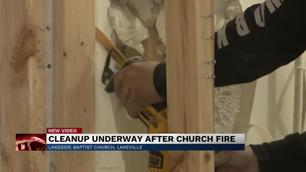 Fire stalls restoration work of Lakeville church