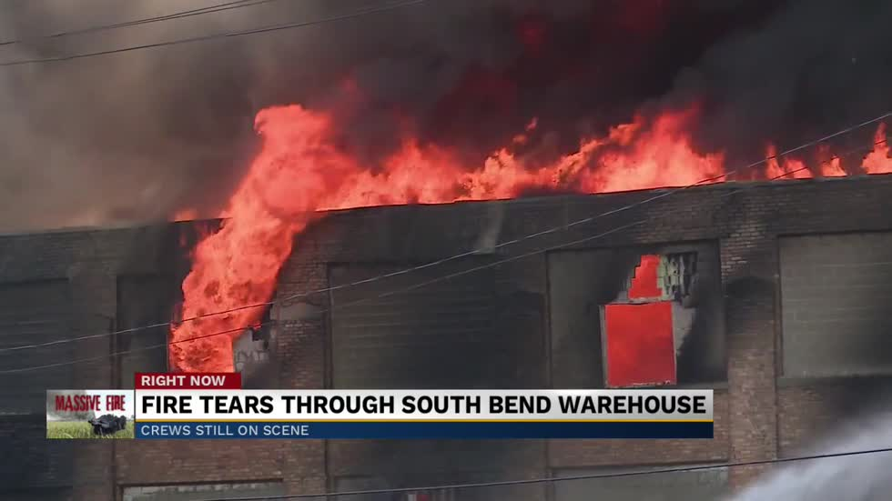 Fun F/X Warehouse on Sample Street partially collapses in fire