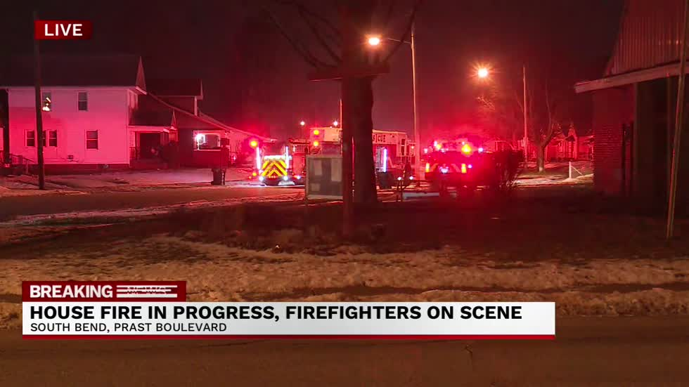 Firefighters battling house fire on Prast Boulevard