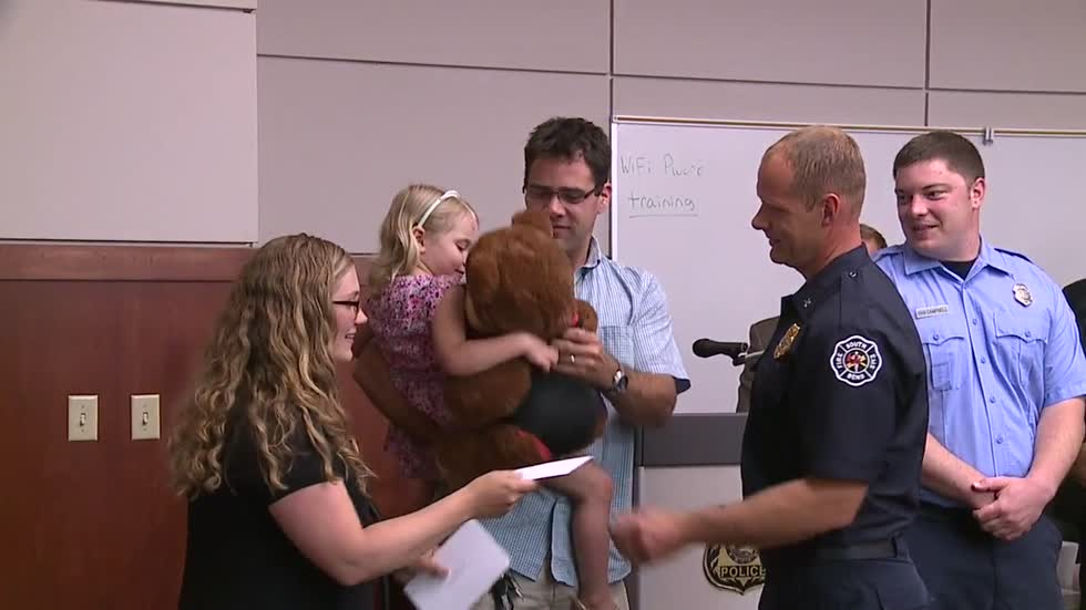 South Bend Firefighters recognized for saving little girl's life