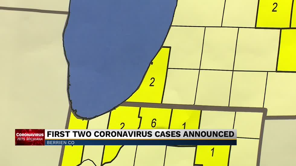 Berrien County announces first positive coronavirus cases