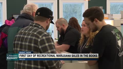 First day of recreational marijuana sales in Niles totaling more than $21,000