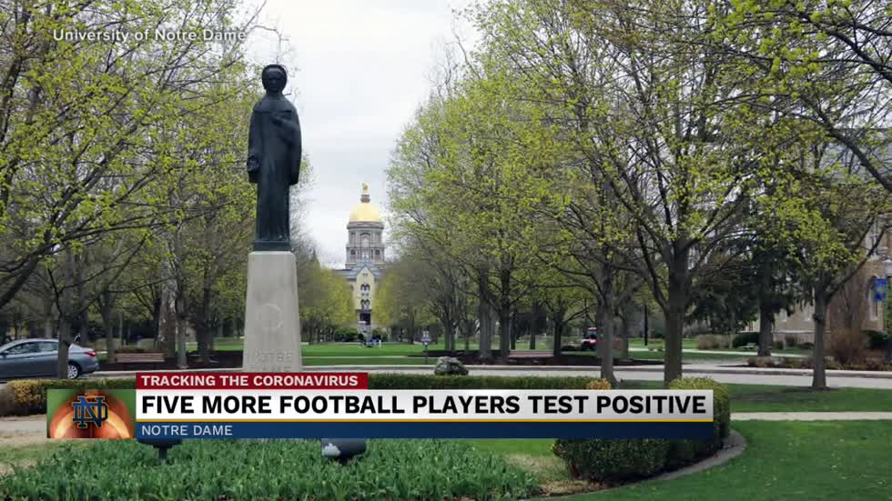 Five more student-athletes at Notre Dame test positive for COVID-19