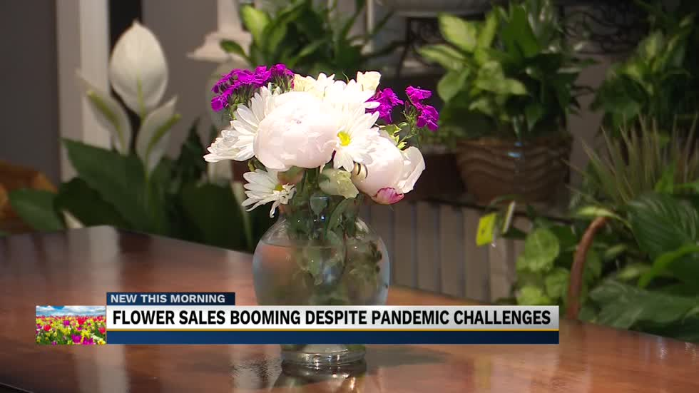 Business blooming for Granger Florist as they sell out mid-week...