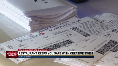 'Fly with Woochi Airways'; Local restaurant uses 'boarding...