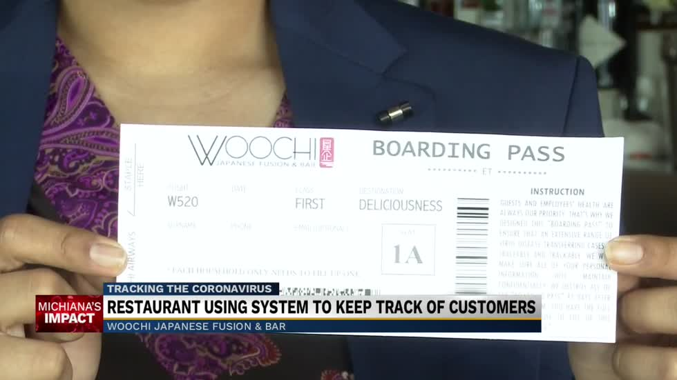 'Fly with Woochi Airways'; Local restaurant uses 'boarding pass' to keep customers safe